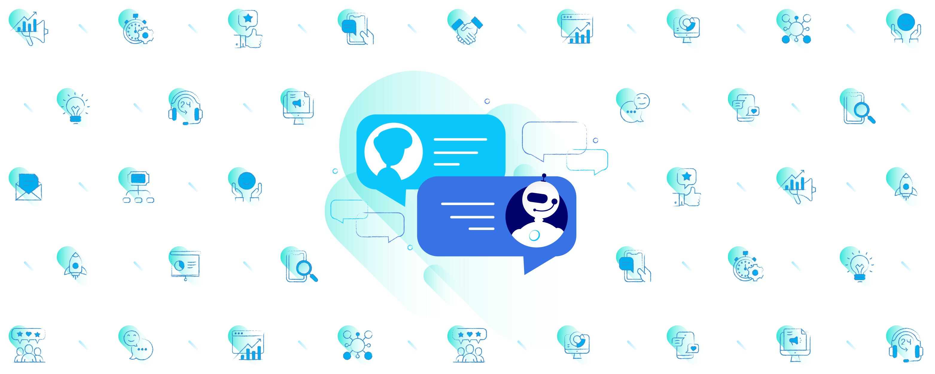 Chatbot uses for sales, marketing and customer service