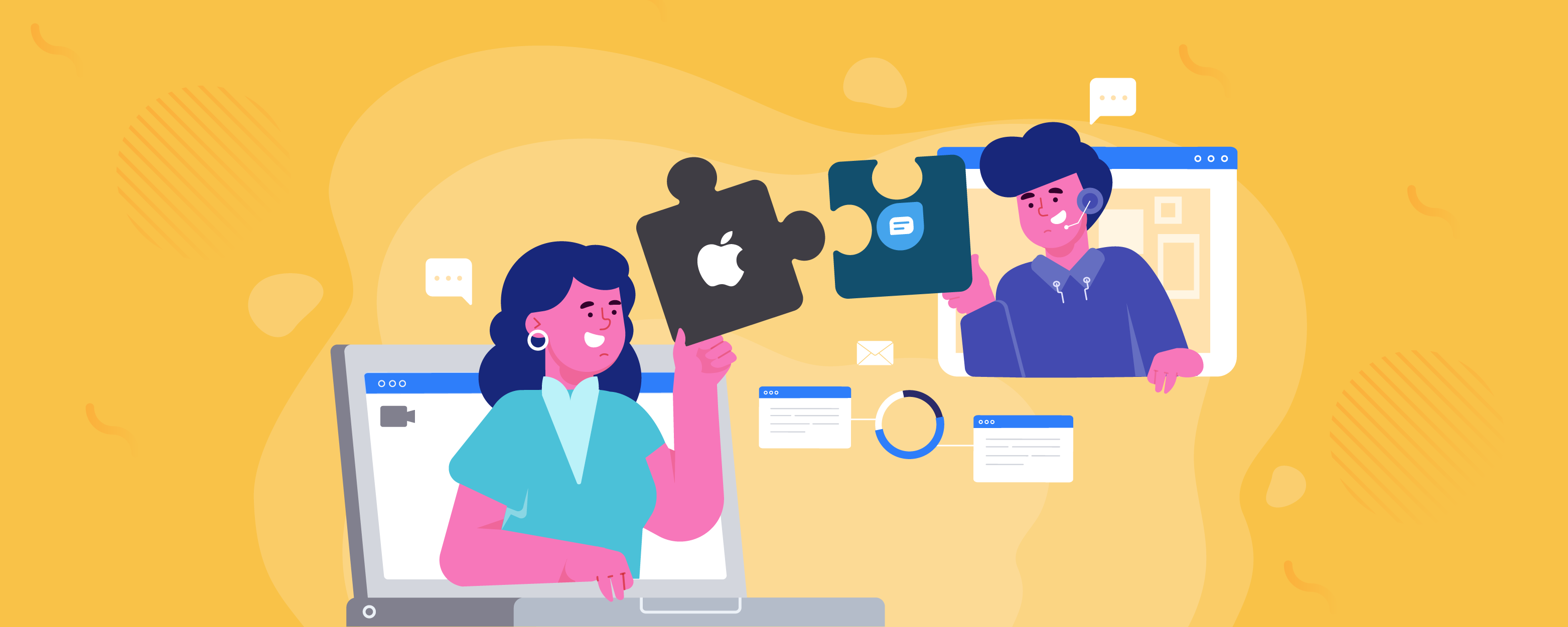 How to apply for Apple business chat blog banner