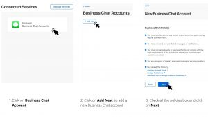Add new Apple business Chat account