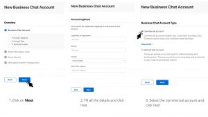 Add commercial account for business chat