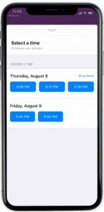 Apple business chat feature - time picker