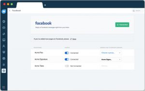 Add multiple Facebook pages - Freshchat Features