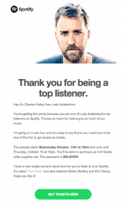 Spotify messages