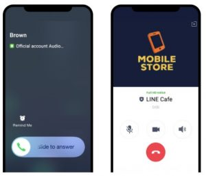 LINE for business Calling feature