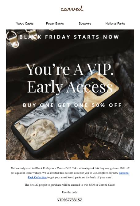 early access offer email
