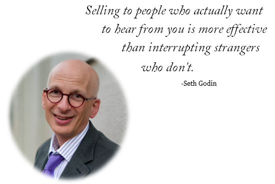 Seth Godin quote on Permission Marketing